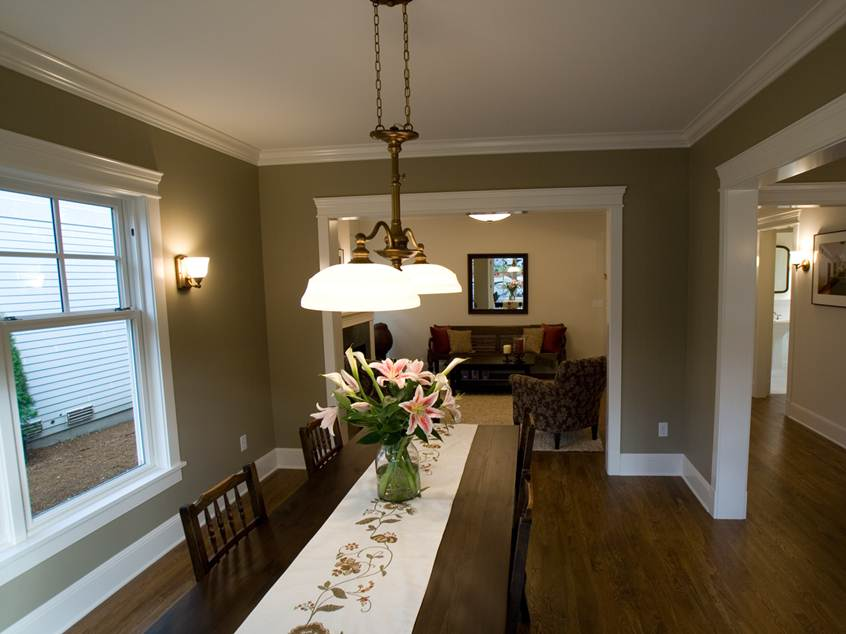 Nice Gray Paint Color For Dining Room