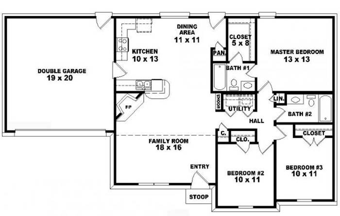 Nice Minimalist 1 Floor Plan Design