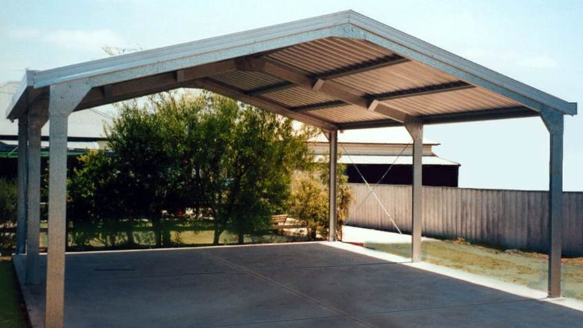 Nice Roof Carport Design For Modern House