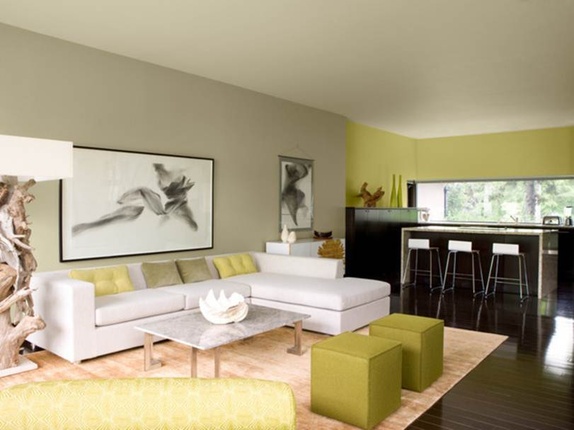 Open Living Room With Neutral Color