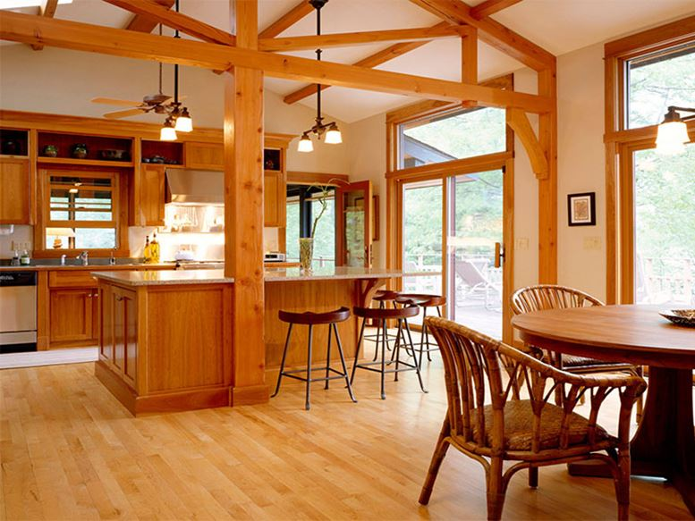 Open Room Style For Wooden House