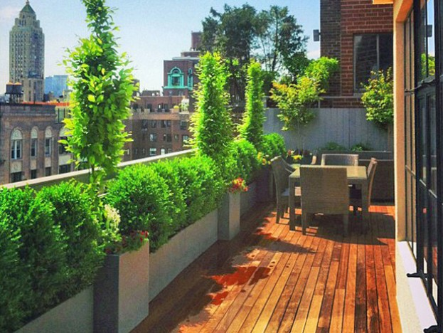 Side Home Terrace Garden Design Idea