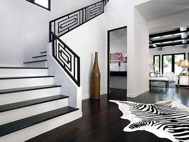 Simple Black White Stairs Color Combination