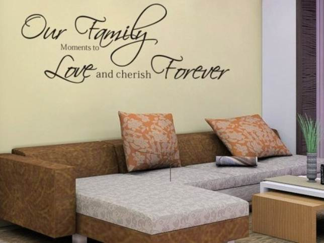 Simple Family Room Wall Decor Idea