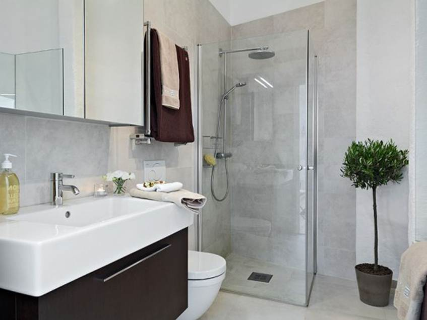 Simple modern minimalist bathroom design 4 home ideas for Minimalist small bathroom design