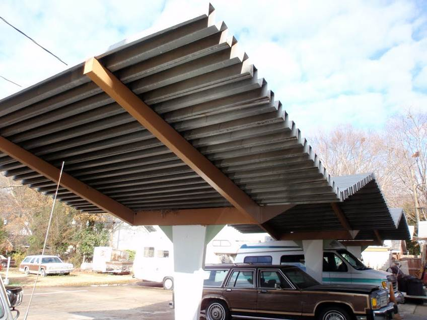 Simple Minimalist Home Roof Carport Design
