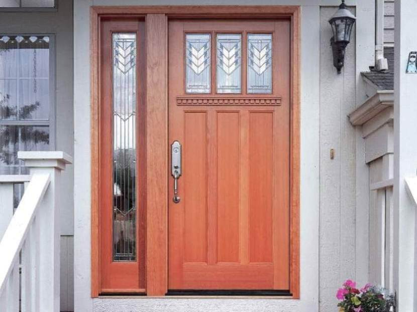 Simple Wooden Door For Minimalist House