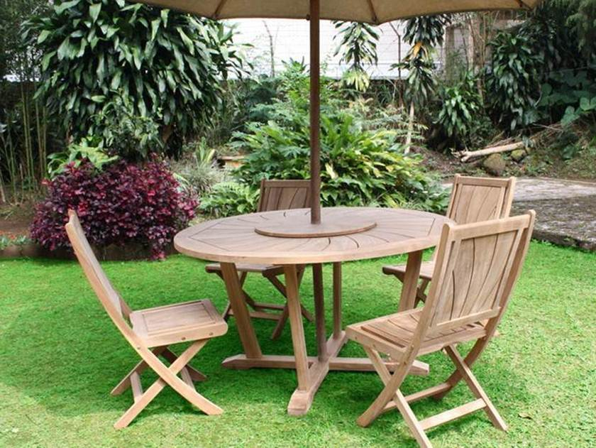 Teak Garden Furniture Decorating Idea