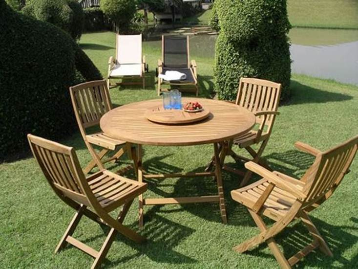 Teak Garden Furniture With Minimalist Style