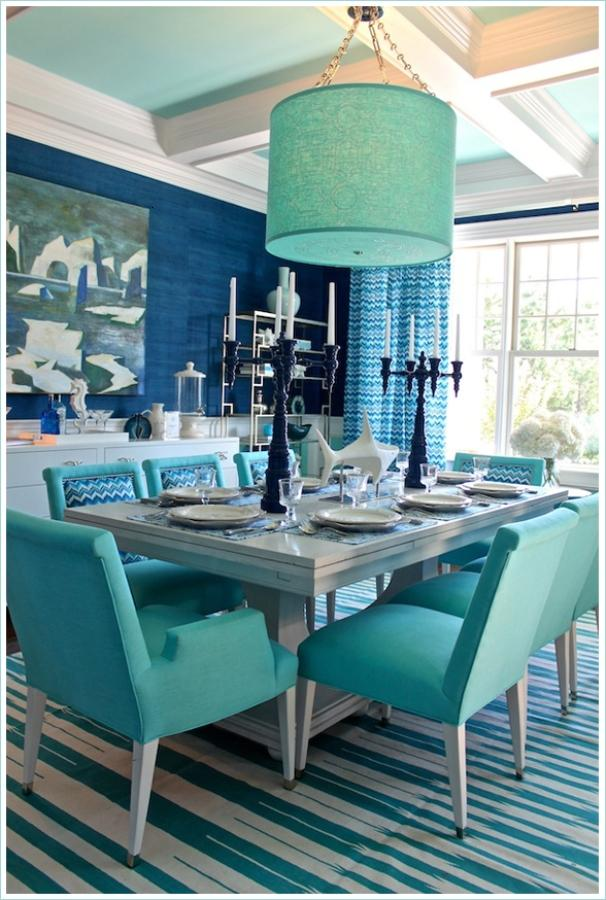 Turquoise Dining Room Paint Idea