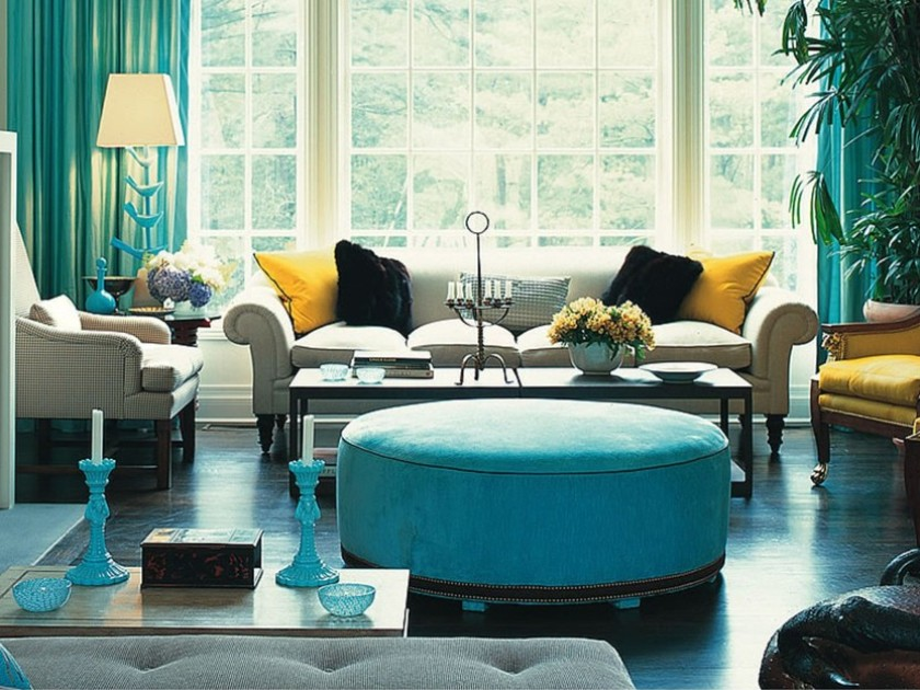 Turquoise Furniture For Living Room Interior