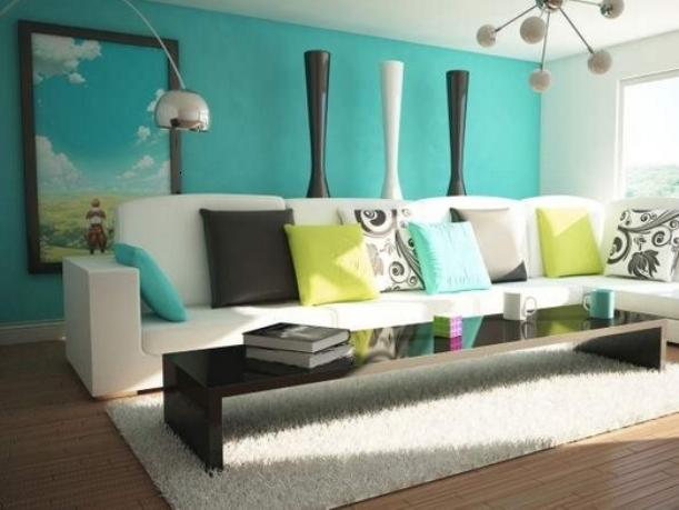 Turquoise Paint For Living Room Wall Paint
