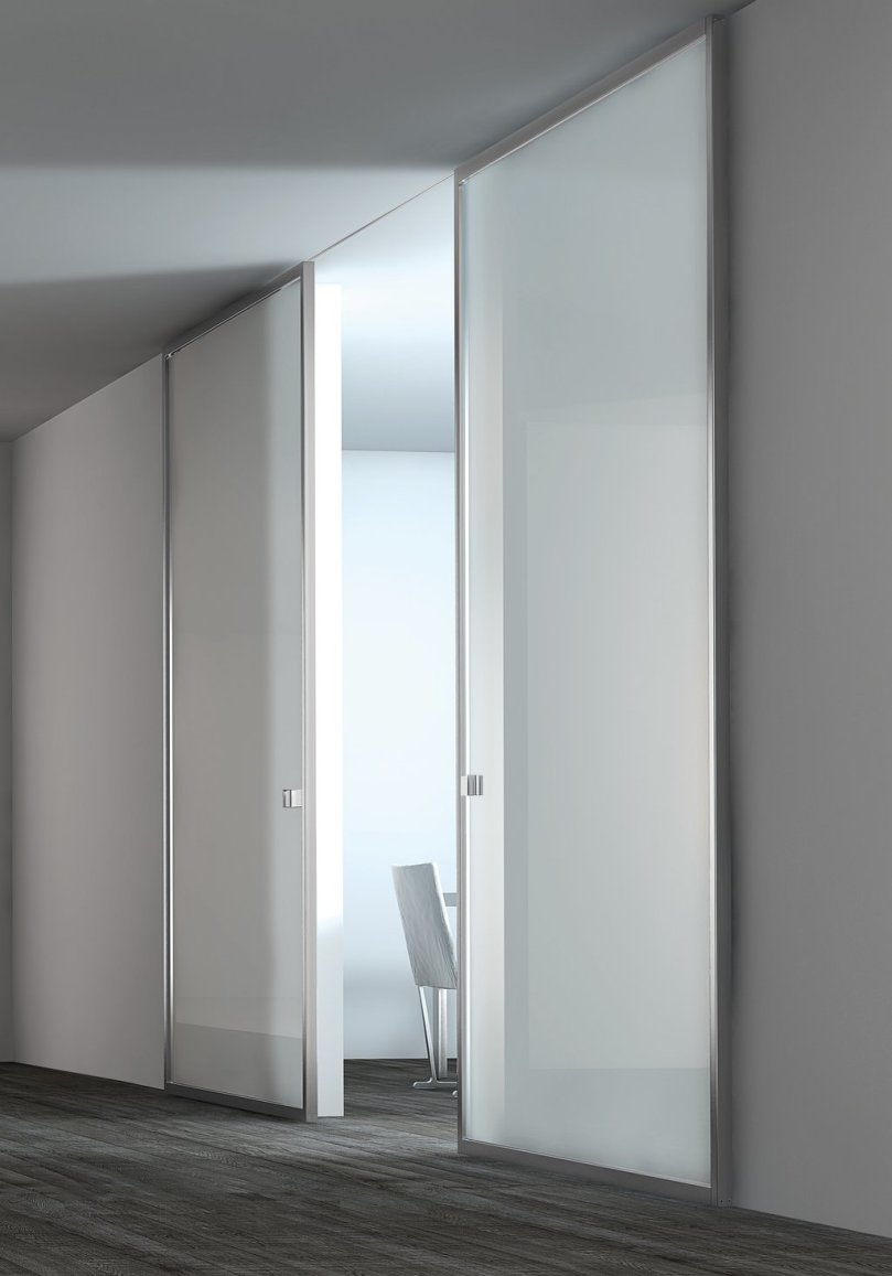 White Sliding Door For Minimalist Home