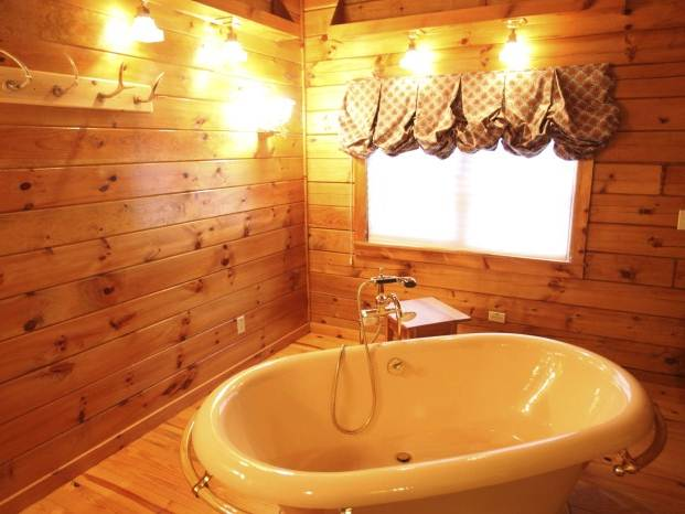 Wooden Bathroom Design With Western Style