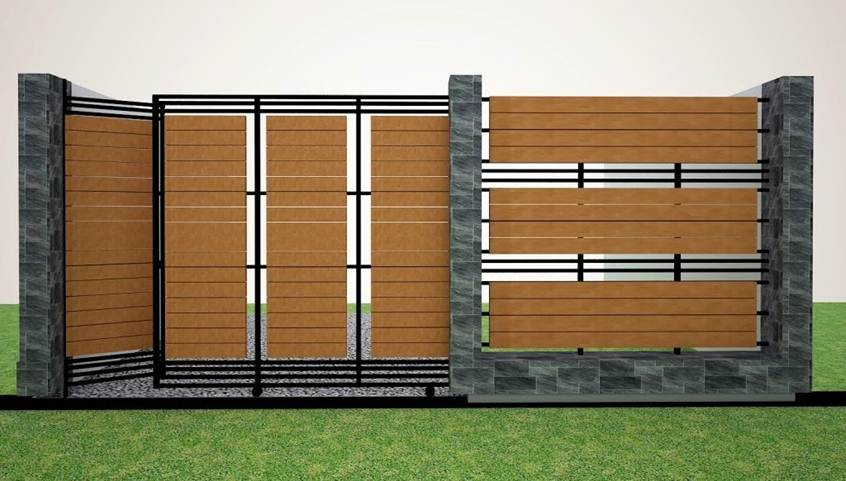 Wooden fence design for minimalist house 2019 ideas for Wooden main gate design for home