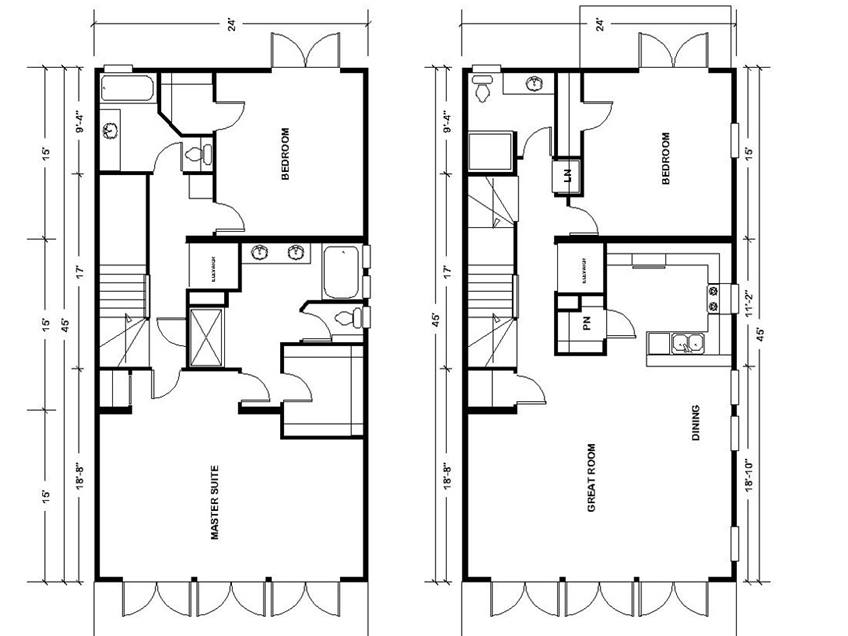 2 Floor Urban Home Plan Design