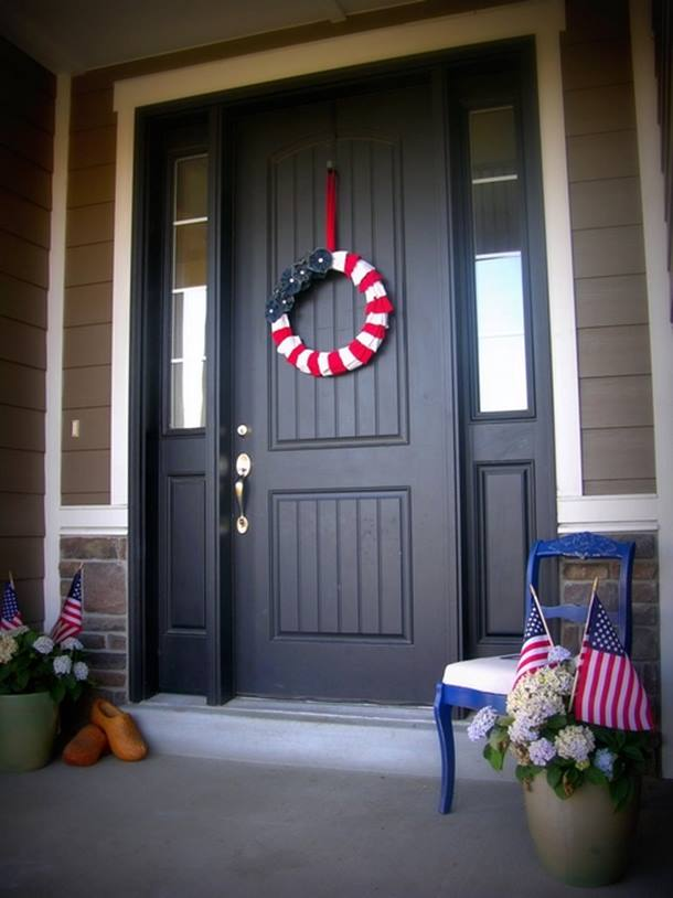Americana Home Decor For Front Door