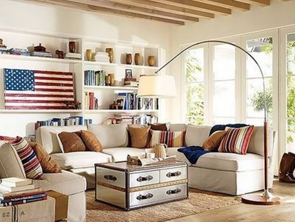 Americana Living Room Decor Idea
