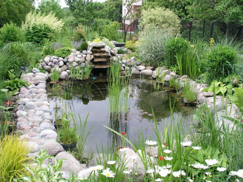 Beautiful Backyard Garden With Pond Decor