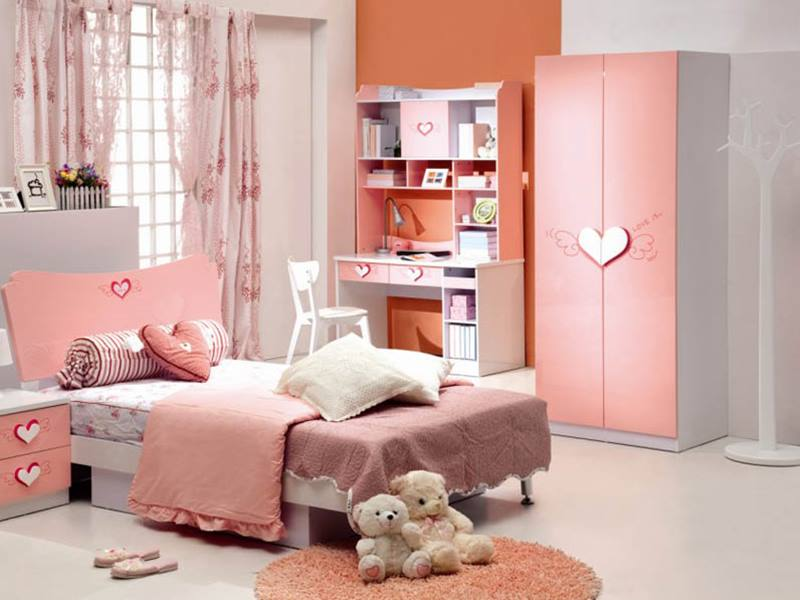 Beautiful Girl Bedroom With Pink Theme