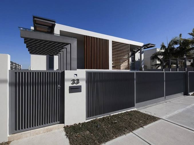 minimalist fence design for urban home decor 4 home ideas ForMinimalist House Fence
