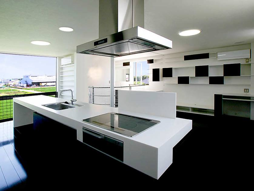 Black And White Modern Kitchen Color