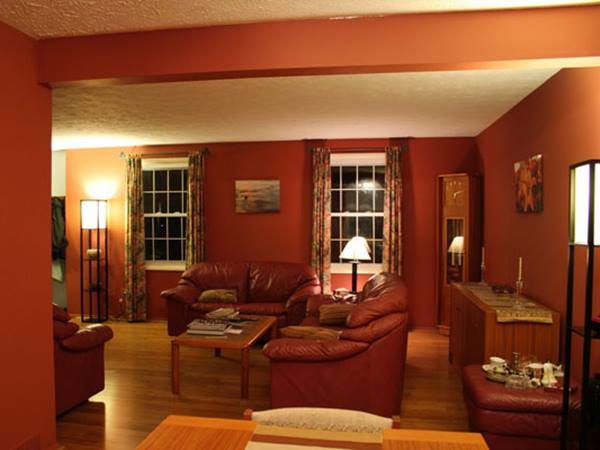 Bold Red Paint For DIY Living Room