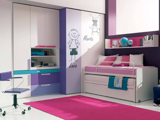 Color Combination Idea For Girl Bedroom