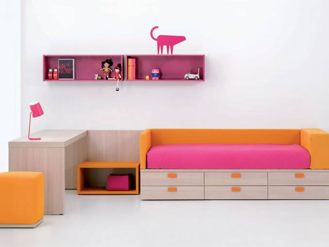 Colorful Kids Furniture For Bedroom Decor