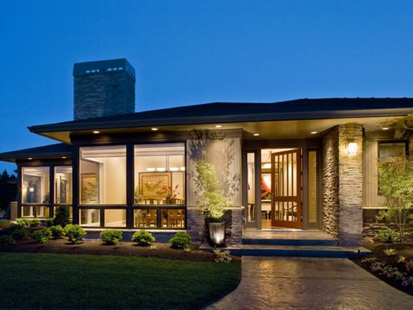 Contemporary Exterior Design For 1 Floor Home