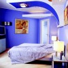 Cool Minimalist Bedroom With Blue Paint