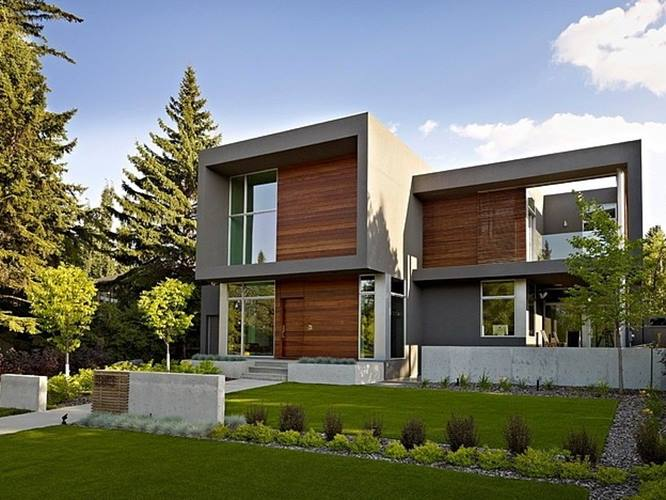 Decorative House Facade With Modern Style