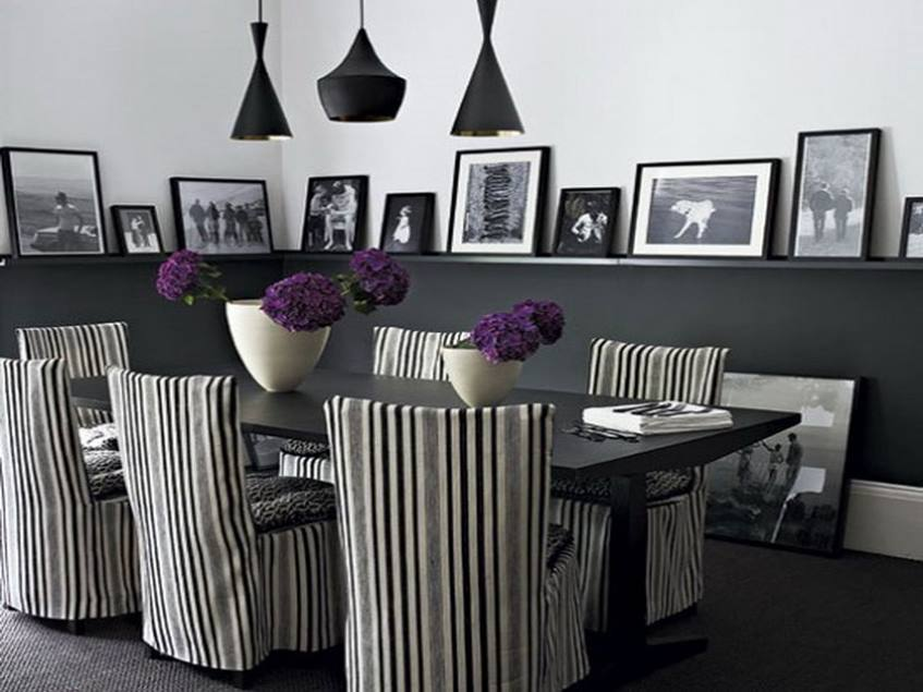 Dining Room Design With Gray Theme