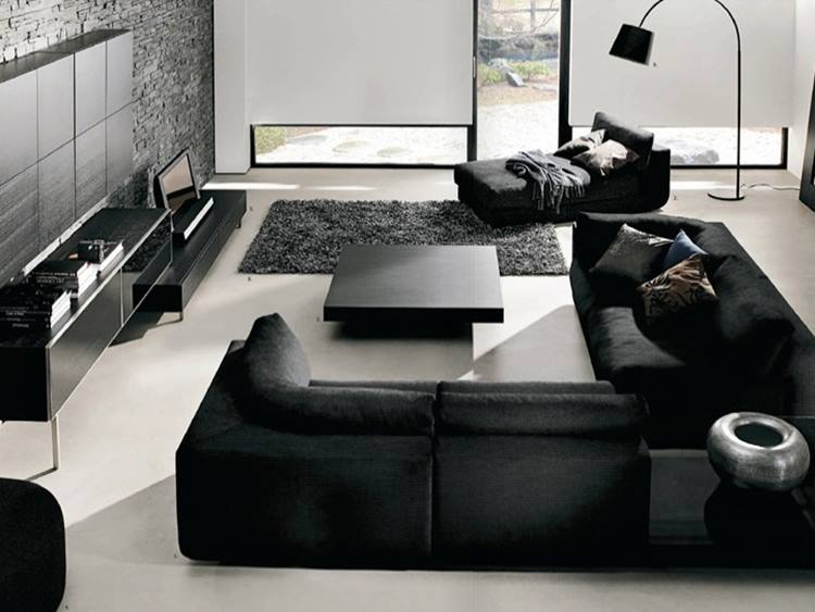 Elegant Black White Small Living Room