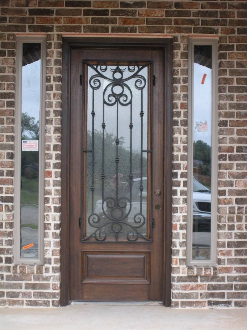 Front Door Design WIth Trellis Decor
