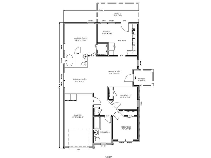 Home Plan Design For Narrow Land