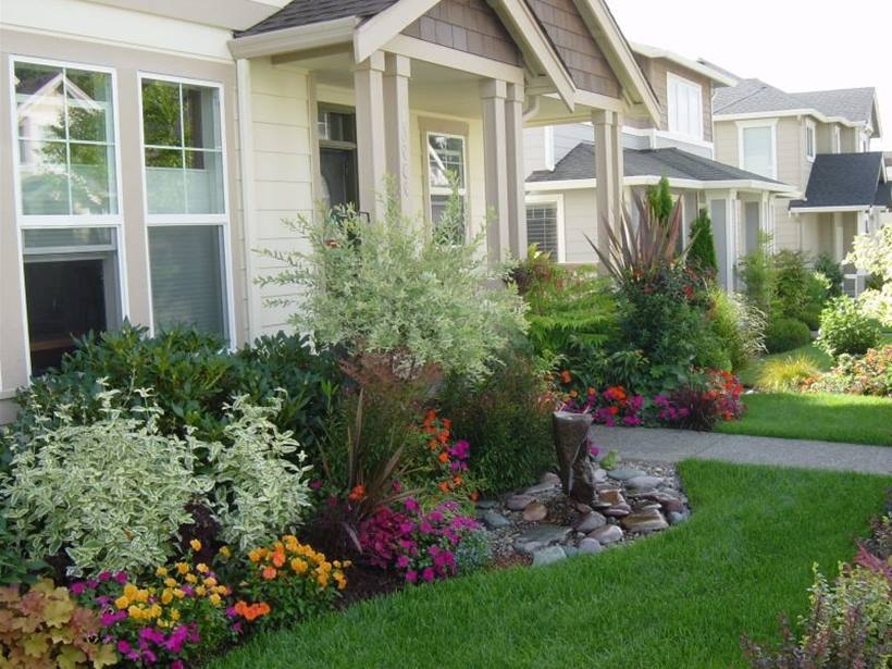 How To Make Beautiful Front Home Garden - 4 Home Ideas