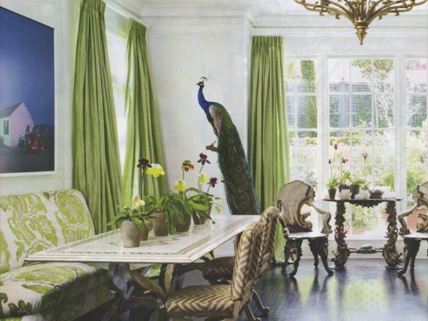... Living Room Design With Peacock Home Decor ...