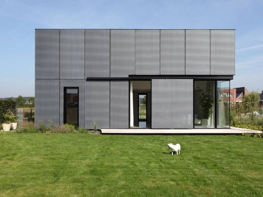 Luxury Minimalist House Facade Color