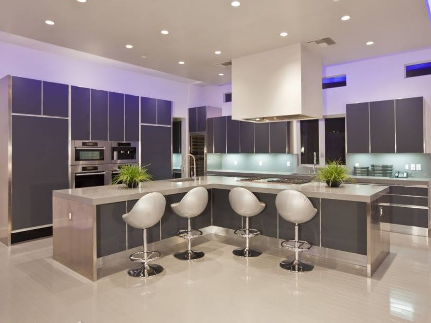 Luxury Modern Kitchen With Gray Color
