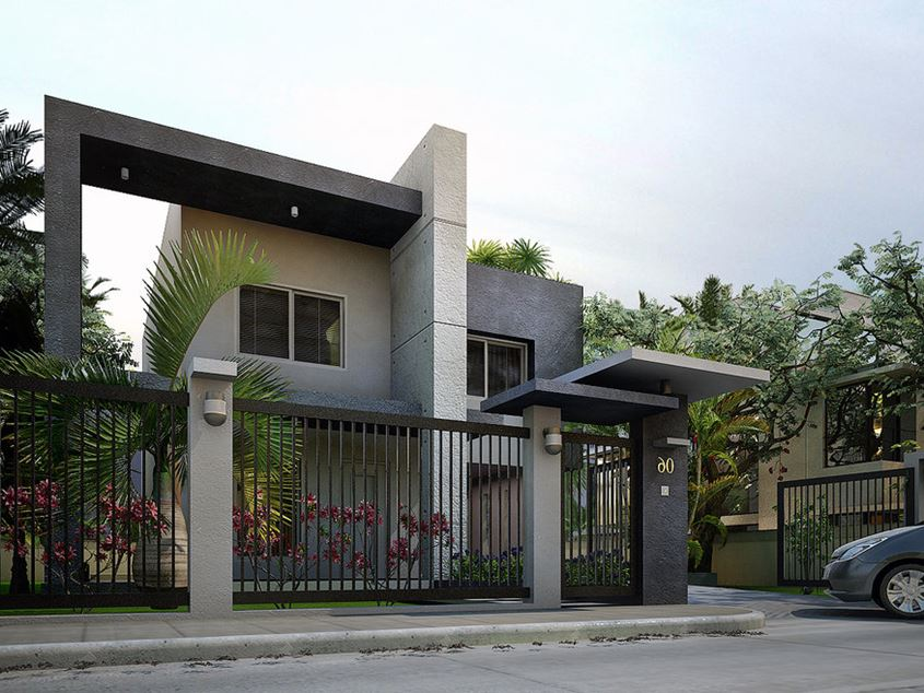 Minimalist Design Idea For 2 Storey House
