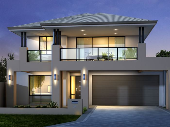 Minimalist Exterior Home Design Ideas: Trend 2 Floor Minimalist House Design 2014