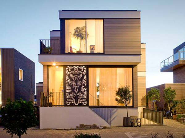 Minimalist house facade decorating idea 4 home ideas for New house decorating ideas