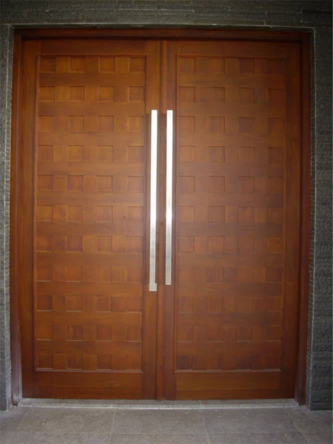 Minimalist Wooden Door For Front House