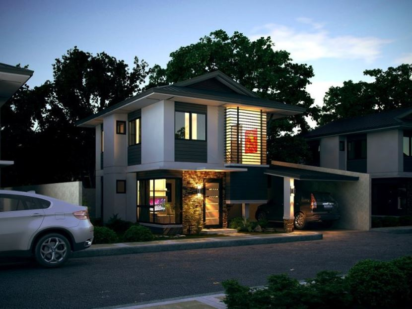 Modern 2 Floor House With Minimalist Design