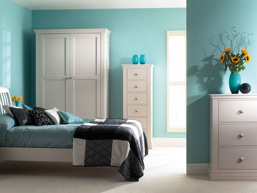 Turquoise Color Bedroom Ideas Part - 37: Modern Bedroom Decor With Turquoise Color