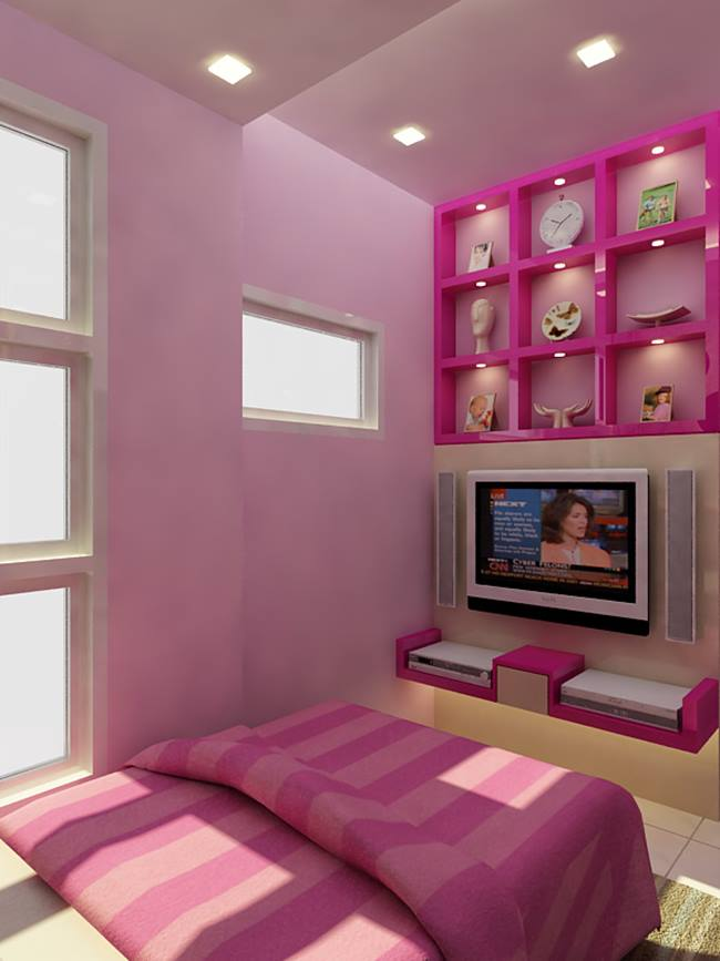 Pink Color For Minimalist Bedroom Interior