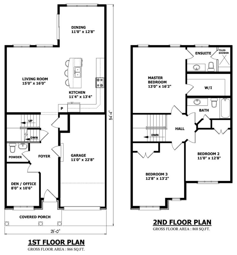 Plan design model for urban house · small 2 floor house plan