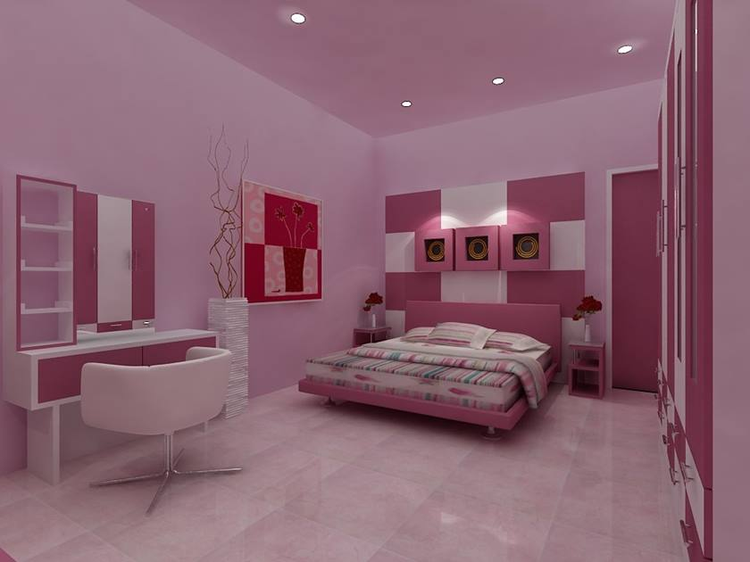 Romantic Pink Color For Minimalist Bedroom 2019 Ideas