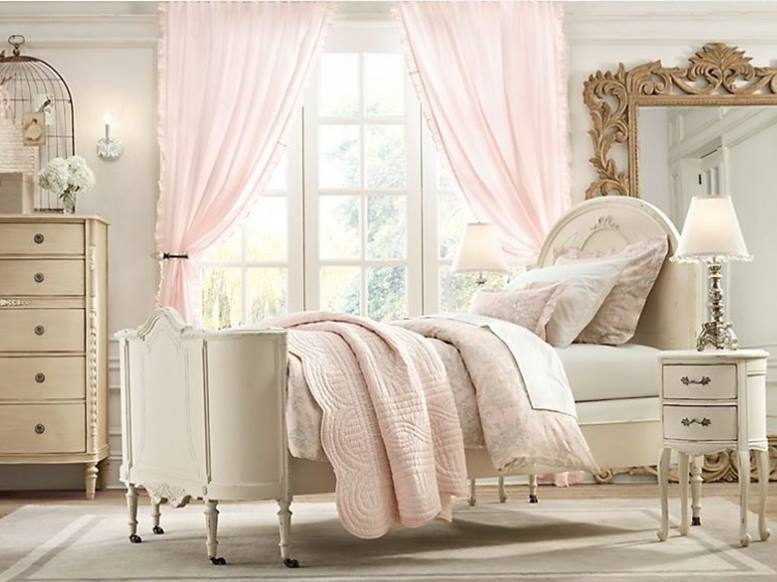 shabby chic bedroom design idea for girls 4 home ideas